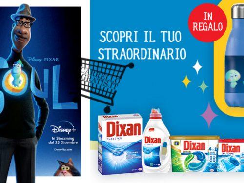 Acquista 10€ di prodotti Dixan e ricevi borraccia + 100€