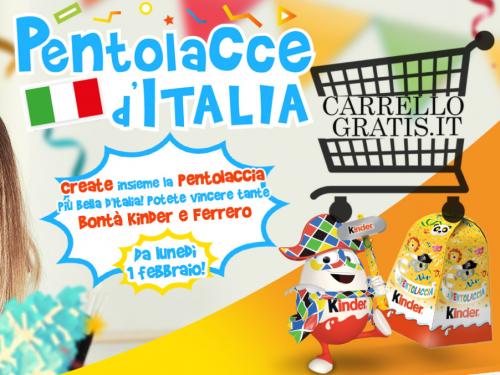 """Kinder """"Pentolacce d'Italia"""":Vinci forniture Kinder da 50€ a 150€"""