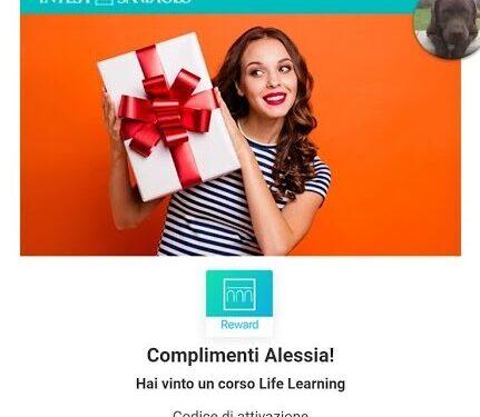 Vinto gratis un corso Life Learning