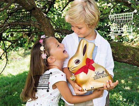 Lindt Gold Bunny: kit caccia uova (premio sicuro) + vinci 600 peluche Gold Bunny