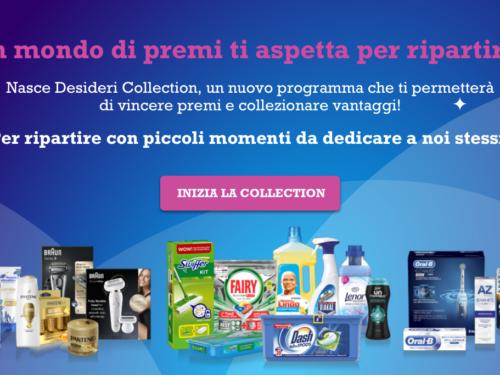 Raccolta punti Desideri Collection vinci gratis