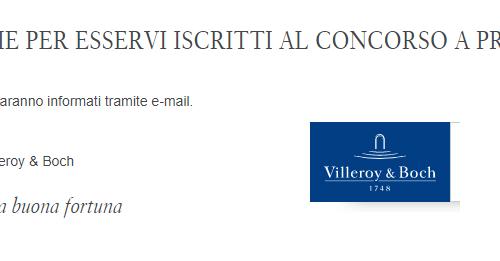 "Villeroy & Boch: vinci gratis set ""Rendi piacevole la tua casa"""