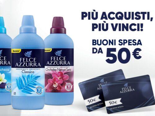 """Felce azzurra """"Più acquisti più vinci"""" vinci 50€"""