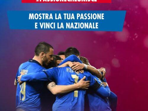 """Concorso Trenitalia """"Passione che unisce"""" vinci gratis maglie,palloni e """"casa azzurri experence"""""""