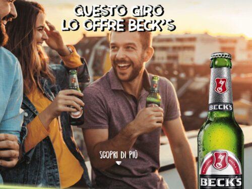 """ALLA BIRRA CI PENSA BECK'S"" spendi e riprendi 10€ Beck's"