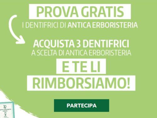 Provami gratis Antica erboristeria acquista 3 dentifrici e richiedi rimborso