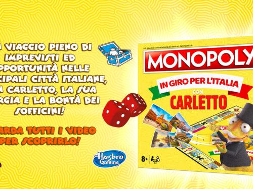 """Sofficini: """"In giro per l'Italia con Carletto"""" vinci 2.000 Monopoly Edizione Speciale"""