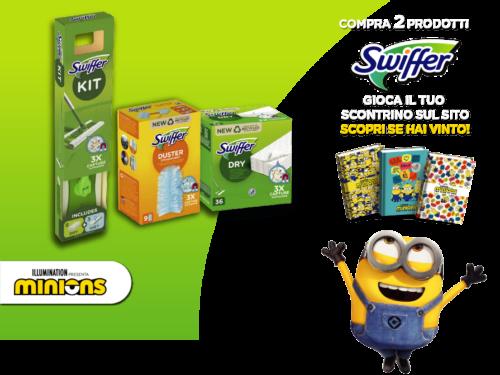 Swiffer acquista 2 prodotti e vinci un diario minions
