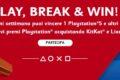 """KitKat e Lion """"Play, break & win"""" vinci playstation 5 e 1 abbonamento"""