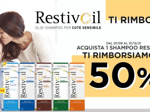 Restivoil ti rimborsa al 50% fino a 4,50€