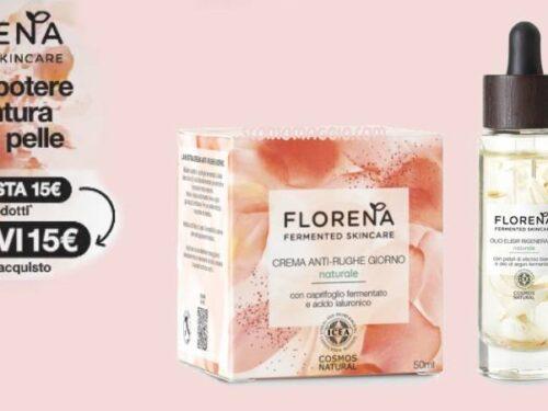 Florena: acquista 15€ e ricevi 15€ in buoni acquisto ESCLUSIVAMENTE da Tigotà