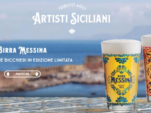 Premio sicuro: Birra Messina richiedi 2 bicchieri tributo alle ceramiche di Caltagirone