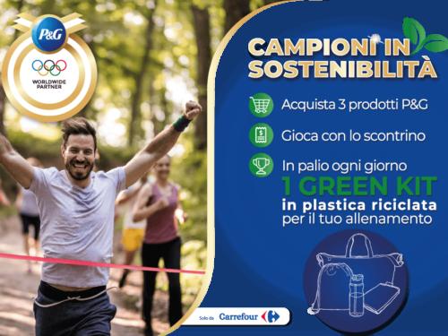 """""""CAMPIONI IN SOSTENIBILITÁ"""" vinci 1 dei 184 Green Kit"""