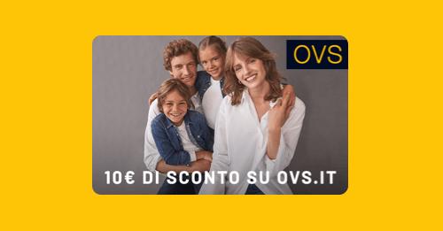 Codice sconto 10€ da OVS